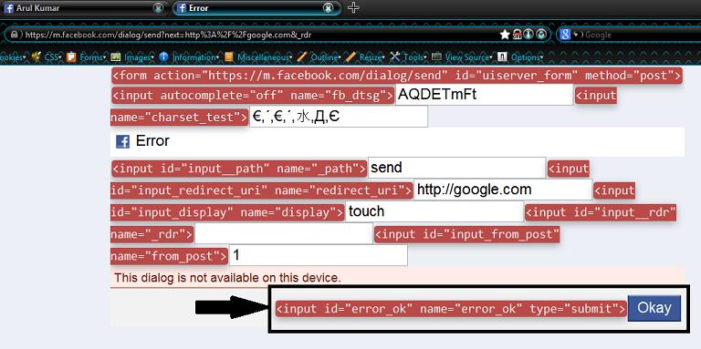 Multiple Open URL Redirection Vulnerability on Facebook